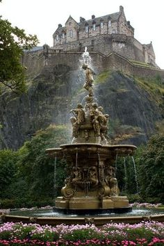 Edinburgh Castle in Edinburgh, Scotland.