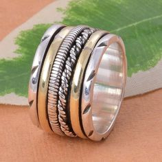 925 STERLING SILVER FANCY HAMER RING JEWELLERY 9.08g DJR4782 #Handmade #Ring