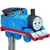 4th Birthday:   Thomas The Tank Engine 3-D Shaped Pull String Pinata
