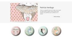 Colección de chapas que Patricia Verdugo expuso en la primera convocatoria de ARTtoGo organizada por PinPonGo