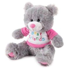 Zanies® BFF Bear Best Friends Dog Plush with Adorable Pink T-Shirt NEW withTags