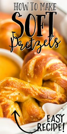 Homemade Soft Pretzels - Spaceships and Laser Beams Homemade Soft Pretzels, Pretzels Recipe, Homemade Cheese, Garlic Pretzel Recipe, Easy Pretzel Recipe, Recipes With Yeast, Fun Baking Recipes, Raw Food Recipes, Wine Recipes