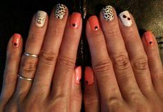 My digits. Sally Hansen Nail polish strips and Maybelline nail tattoos.