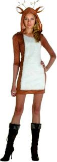 #Deer #Costume Sexy upon Flirty Doe White Tail Reindeer Antlers of Buck Love Deers within Frisky Forest Female Costumes