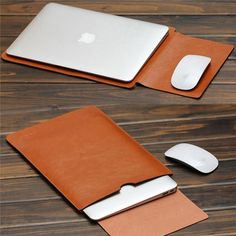 2017 For MacBook Air Pro 11 12 13 15 inch Laptop Vacuum Bag PU Leather Case Sleeve Notebook Ultrabook Carry Bag Case Pouch