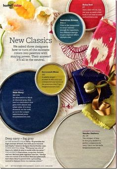 craving some color, try this navy citron and pink combination