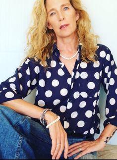 vintage polka shirt from Agnes B and denims Polka Dot Top, Denim, Shirts, Vintage, Tops, Women, Fashion, Moda, Fashion Styles
