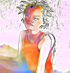 Frazzled #woman #portrait #color #mobileart #digitalart #ipadart #icolorama