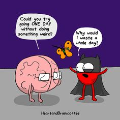 The awkward yeti - heart & brain Akward Yeti, The Awkward Yeti, Comics Und Cartoons, Funny Comics, Happy Comics, Funny Cute, The Funny, Funny Pick, Heart And Brain Comic