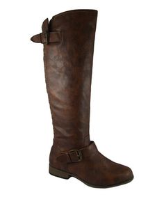 Take a look at this Brown Studded Legend Boot by Link on #zulily today!