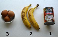 3, 2, 1 Custard ingredients ~ paleo, gluten-free and no sugar but tastes exactly like banana bread.