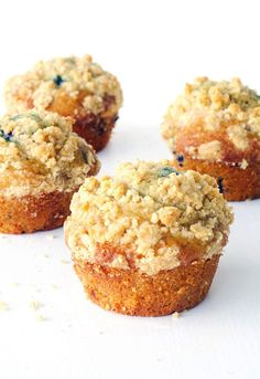 Welcome to Monday friends! Today is all about the humble muffin. Are you a  fan? Growing up muffins were a treat we loved to make and eat but most of  the time we just used a packet mix. Well it's time to throw away the cake  mix because these big bakery-style Blueberry Crumble Muffins, made from  scratch, are simply the best! We're talking high top muffins with a  gorgeous and buttery crumb and a soft and fluffy centre studded with big  blueberries. Fresh out of the oven, these muffins are…