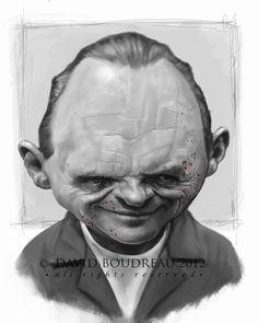Anthony Hopkins - Caricaturas / Caricatures / Retratos / Portrait