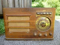 Vintage 1938/39 Crosley Super 8 818 Tube Radio Police Shortwave Mirror Dial