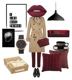 """""""Look and think"""" by ms-el-ka on Polyvore featuring мода, Burberry, MICHAEL Michael Kors, Lime Crime, Marc Jacobs, Margaret Howell, HiEnd Accents и Pablo"""