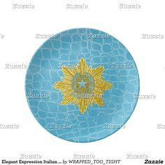 Elegant Expression Italian Republic Dinner Plate