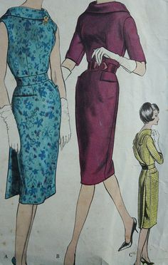 Vogue Paris Original  1007 Jean Desses 1960s 6s Open Back by EleanorMeriwether