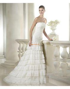 Spitzen-Looks Frühling 3/4 Arm Brautkleider 2015