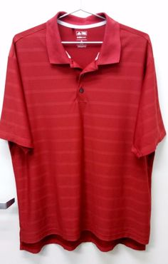 Authentic Adidas Men's Stripe Climacool Golf Polo Shirt Size XL   #Adidas #PoloRugby
