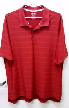 ea914f65708 Authentic Adidas Men 039 s Stripe Climacool Golf Polo Shirt Size XL