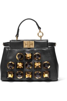 584e08f1633a Fendi - Peekaboo micro studded leather shoulder bag