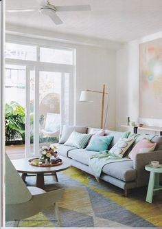 Home Beautiful Magazine Pastel Interior