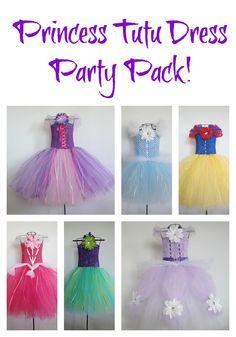 Princess Tutu Dress Party Pack by MonkeysCubbyhole. Disney Tutu, Disney Dresses, Disney Princess Party, Little Princess, Space Princess, Dress Up Costumes, Diy Costumes, Princesa Tutu, Costume Carnaval