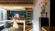 NCDA designs wood-screened loft bedroom for tiny Hong Kong treehouse