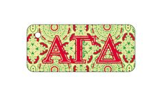 Alpha Gamma Delta Sorority Key Chain with Monogram/Big/Little on back! More @newbeginningdesigns.com