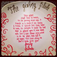 The Giving Plate by ajonesofalltrades on Etsy Giving Plate, Home Food, Diy Projects, Diy Crafts, Plates, Crafty, Handmade Gifts, Gift Ideas, Activities