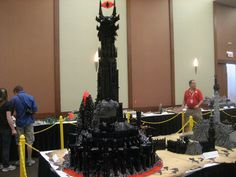 "Barad Dur by Kevin Walter - Journey of the Fellowship 2011 - ""Best Group Layout Brickworld 2011"" & ""Judges Choice Award Brickworld 2011"" & Nominated for ""Best Large Building Brickworld 2011"""