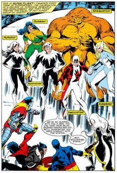 X-Men vs Alpha Flight by John Byrne