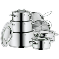 WMF Gala II 12 pc Cookware Set offers a fabulous opportunity to get started with a high quality cookware set that includes an abundance of sizes to meet your every need.