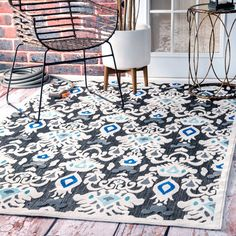 AuBergewohnlich NuLOOM Indoor/ Outdoor Ikat Fancy Porch Rug (9u0027 X ...