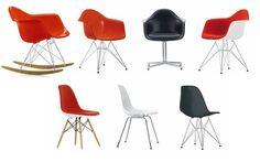 Eames Plastic Armchair et Eames Plastic Side Chair de Vitra