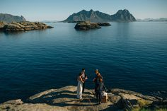 Some backdrop! From the wedding we arranged for Sirena and Erick in Lofoten in September 2014.  Photos: Nordica Photography