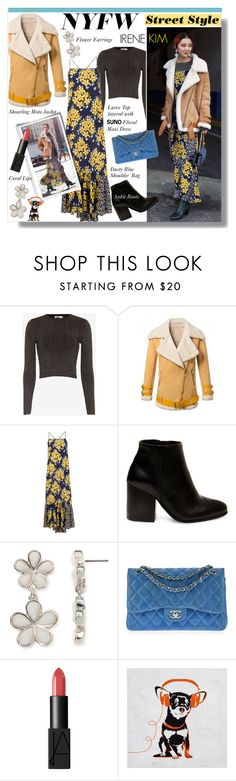 """""""NYFW Street Style - Irene Kim"""" by watereverysunday ❤ liked on Polyvore featuring A.L.C., WithChic, SUNO New York, Steve Madden, Liz Claiborne, Chanel, NARS Cosmetics, women's clothing, women and female"""