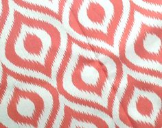 Pink Ikat Fabric  laurenmary original design by laurenmaryHOME