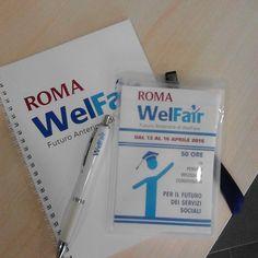 Gadget Roma Welfair  #welfare #convegno #alessandrociglieri #servizisociali