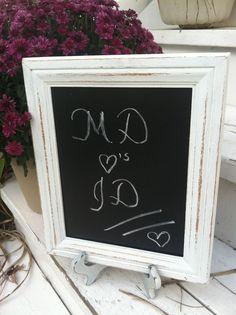 Shabby Chic Wedding Chalkboard by WhimsicalLoveBirds on Etsy, $19.95