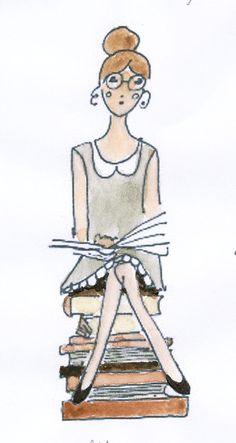 Camille lit   (copyright sur tous les dessins de Camille)