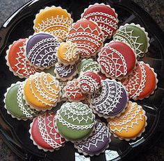 Frilly Christmas Baubles Iced Cookies