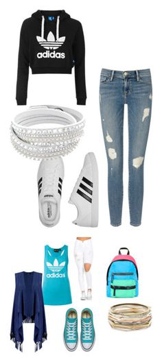 """adidas"" by nada33174 on Polyvore featuring mode, Frame Denim, adidas, Topshop, Boohoo et Kendra Scott"