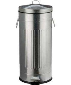 Living 30 Litre Retro Kitchen Pedal Bin - Silver.