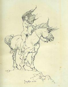 1975  Art of Frank Frazetta Book One Nude Frontispiece Comic Art