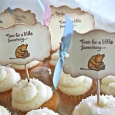 Time for a little something pooh cupcake toppers