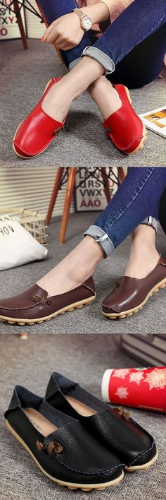 Big Size Soft Multi-Way Wearing Pure Color Flat Loafers is cheap and comfortable. There are other cheap women flats and loafers online. Comfy Shoes, Cute Shoes, Comfortable Shoes, Me Too Shoes, Casual Shoes, Mode Cool, Mode Hijab, Mode Style, Fashion Boots