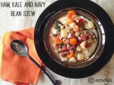 Ham, Kale and Navy Bean Stew | http://makingofamom.com/ham-kale-navy-bean-stew/