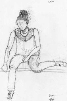 Dibujo del natural. Diferentes poses de figura. Ainhoa Basterra. 2012