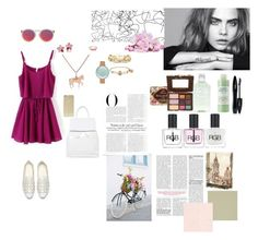"""""""I'm the kind of person who likes a relationship from a friendship"""" by karina-fiestisova ❤ liked on Polyvore featuring Topshop, Le Specs, Sonix, Skagen, Carolee, Gemma J, Alex and Ani, Slate & Willow, Mario Badescu Skin Care and Lancôme"""